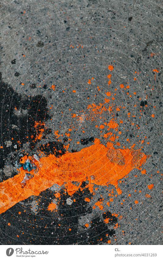 orange Farbe abstrakt Abstraktion Strukturen & Formen Spritzer Kreativität