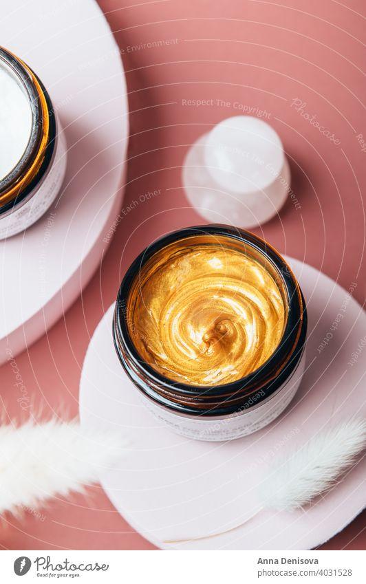 Skincare-Bestseller Kosmetik-Tiegel Sahne Glas Gesicht Hautpflege Erdöl Mundschutz liquide Serum golden organisch Behandlung Gesichtsbehandlung Frau Container