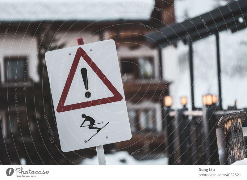 Schweiz, Ski, Schild, Winter Zeichen reisen