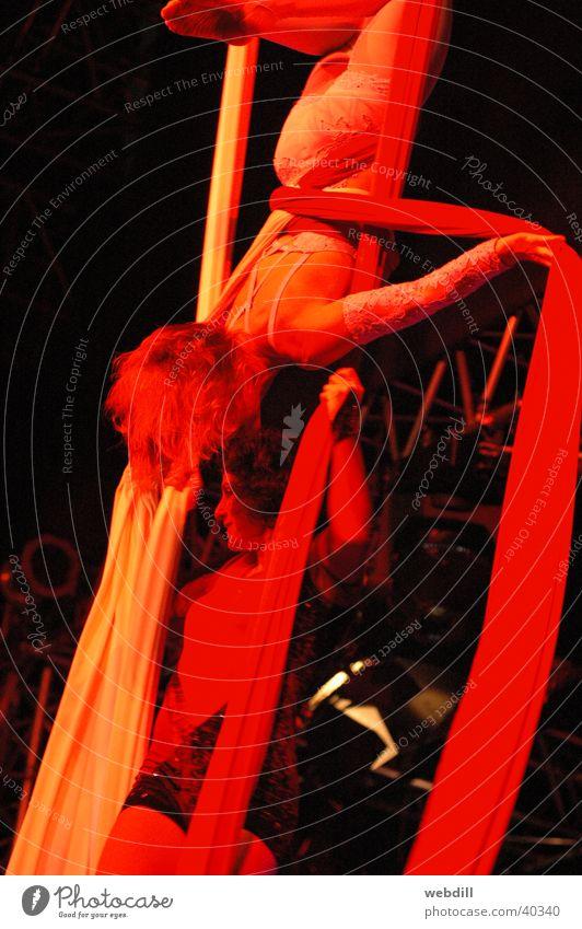 Doppeltuchartistinnen Frau Artist Tuch Zirkus Beruf Fabelwesen
