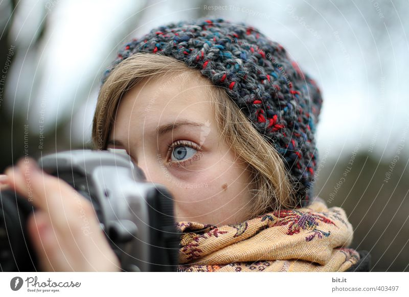 900 Fotos Freizeit & Hobby Mensch feminin Junge Frau Jugendliche Kopf 1 13-18 Jahre Kind 18-30 Jahre Erwachsene schön Glück Erfolg Wissen Fotografie Fotokamera