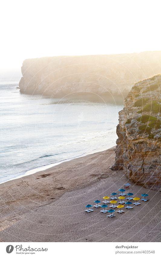 Es gibt noch ruhige Ecken an der Algarve... Umwelt Natur Pflanze Sand Himmel Sonnenaufgang Sonnenuntergang Sommer Klima Schönes Wetter Felsen Wellen Küste