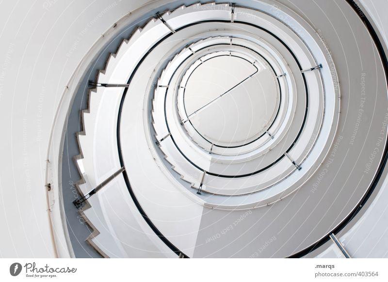 e weiß Wege & Pfade Innenarchitektur Stil hell Treppe elegant Lifestyle Design Ordnung hoch Perspektive Beginn ästhetisch rund Ziel