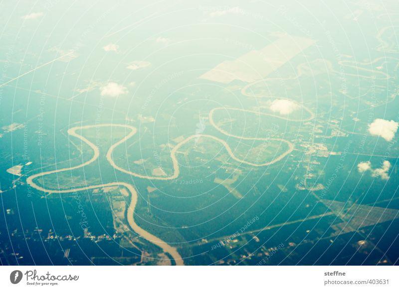 Mekong Landschaft Wolken außergewöhnlich Fluss Asien Schlangenlinie Kambodscha Südostasien