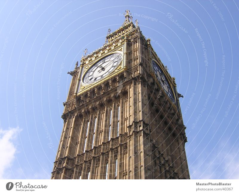 Big Ben Uhr Turmuhr London Wahrzeichen Architektur