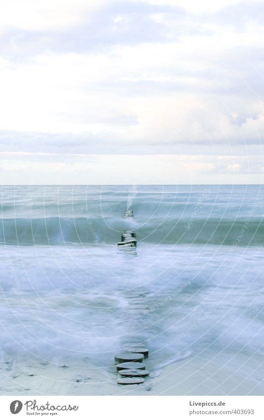 Ostseeküste Himmel Natur blau Wasser Landschaft ruhig Wolken Strand Umwelt kalt Herbst Küste grau natürlich Wellen Wind