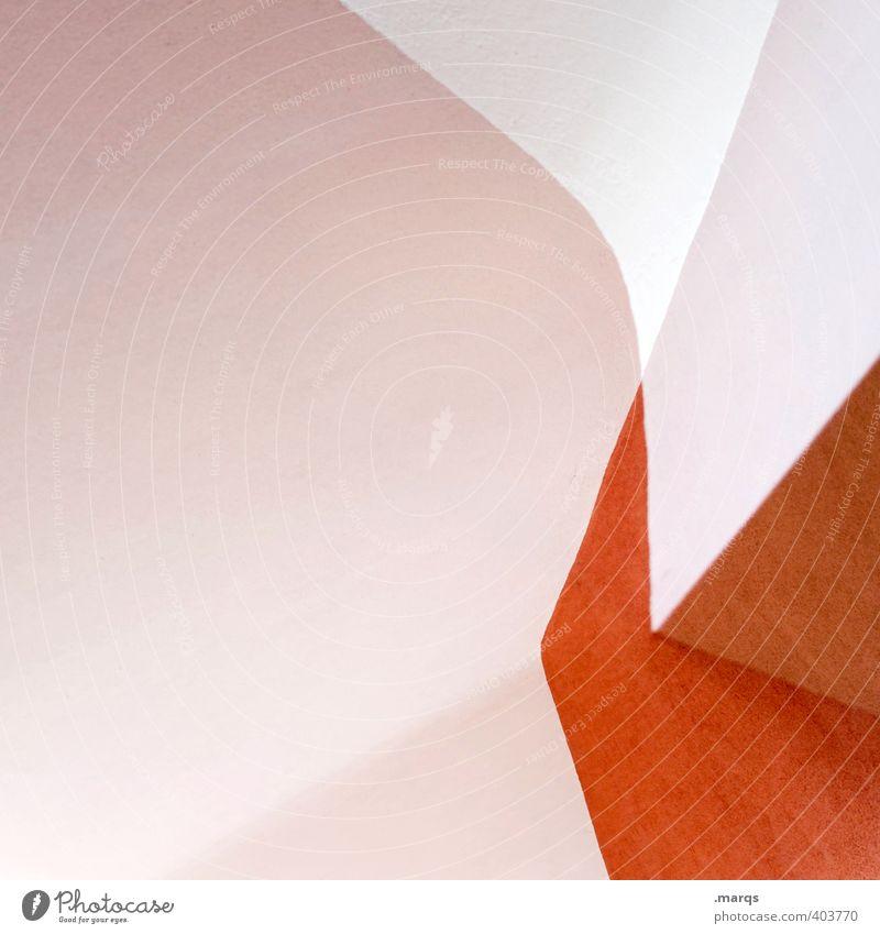 /V Lifestyle elegant Stil Design Innenarchitektur Linie ästhetisch außergewöhnlich Coolness eckig hell trendy modern orange weiß Perspektive Hintergrundbild