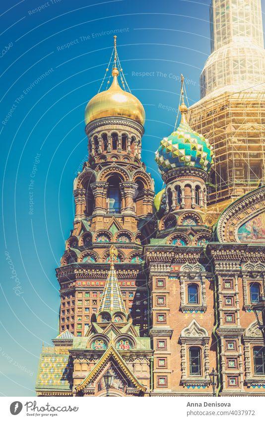 Kirche des Erlösers auf vergossenem Blut, St. Petersburg, Russland Saint Petersburg M Isaakskathedrale kazan Großstadt Frühling Tourismus Sommer Architektur
