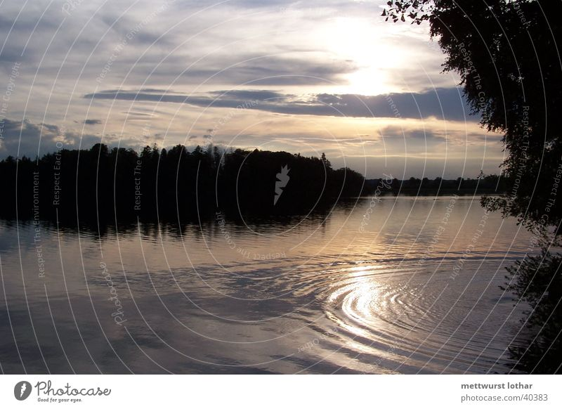 Abendsonne am See Wasser Sonne Wolken Wellen