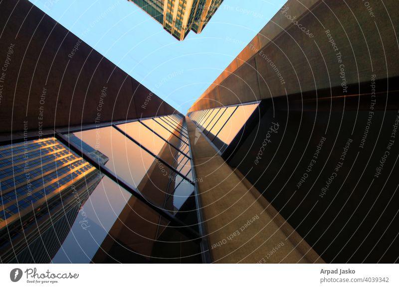Architektonisches Hochhaus Abstrakt abstrakt Architektur abstrakte Architektur Gebäude hoher Anstieg Seattle nach oben