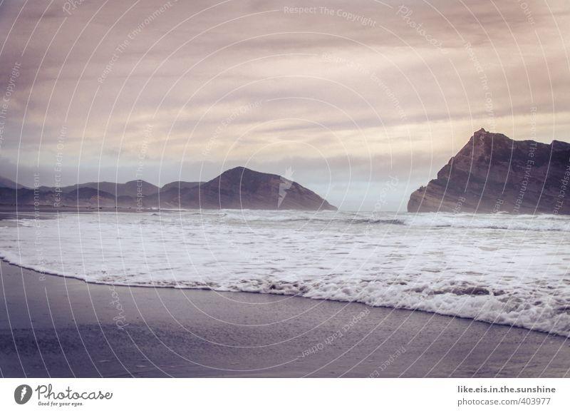 durchatmen. Natur Ferien & Urlaub & Reisen schön Meer Erholung Einsamkeit Landschaft ruhig Strand Ferne Umwelt Küste Freiheit Felsen Stimmung Wellen