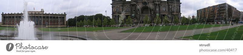 Börlin Brunnen Palast Haus Panorama (Aussicht) Museumsinsel Architektur Berlin Aktien Insel groß Panorama (Bildformat)