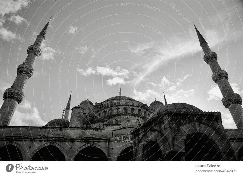 Blaue Moschee in Istanbul blaue moschee istanbul Islam Religion & Glaube Truthahn Minarett Gebäude Bauwerk Architektur historisch Ferien & Urlaub & Reisen