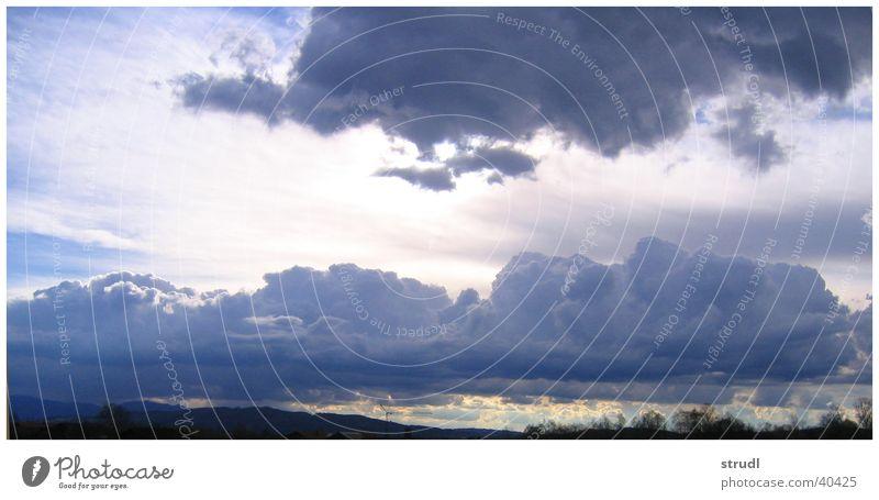 Wolken los! Bayern Wetter Himmel Abend blau Regen Gewitter Alpen