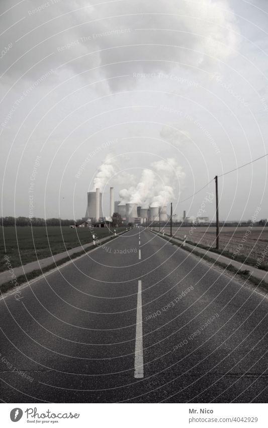 Kraftwerk Energie Umwelt Industrie Energiewirtschaft Klima Umweltschutz Umweltverschmutzung Himmel Kohlekraftwerk Schornstein Luftverschmutzung Klimawandel