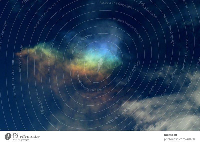Regenbogenwolke Himmel blau Wolken Österreich Naturphänomene