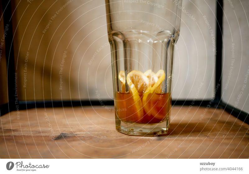 Zitronentee Cocktail trinken Glas Gesundheit gelb Lebensmittel Zitrusfrüchte Erfrischung Scheibe Tee Hintergrund Getränk Frucht süß liquide erfrischend Frische