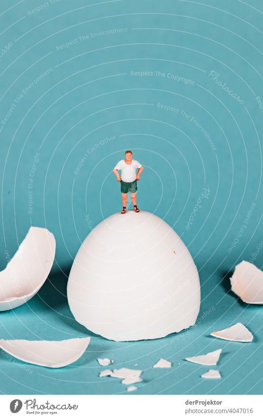 Ausblick vom auseinander gebrochenen Ei Ostern ostereier Ostermontag Ostergeschenk Osterwunsch osterwetter Osterei Dekoration & Verzierung Feste & Feiern