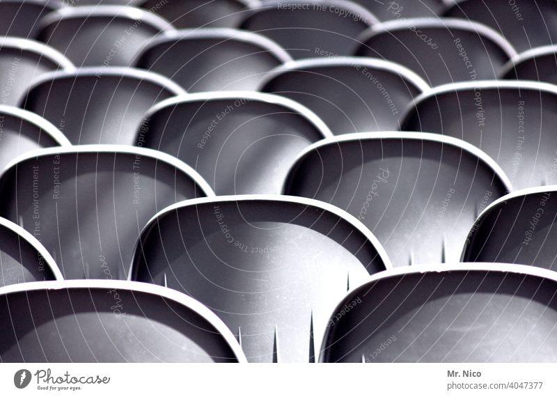 Geisterzuschauer Bestuhlung Sitzreihe Sitzgelegenheit Platz sitzschale platzreservierung zuschauerplätze Arena leer tribühne Stadion Tribüne Strukturen & Formen