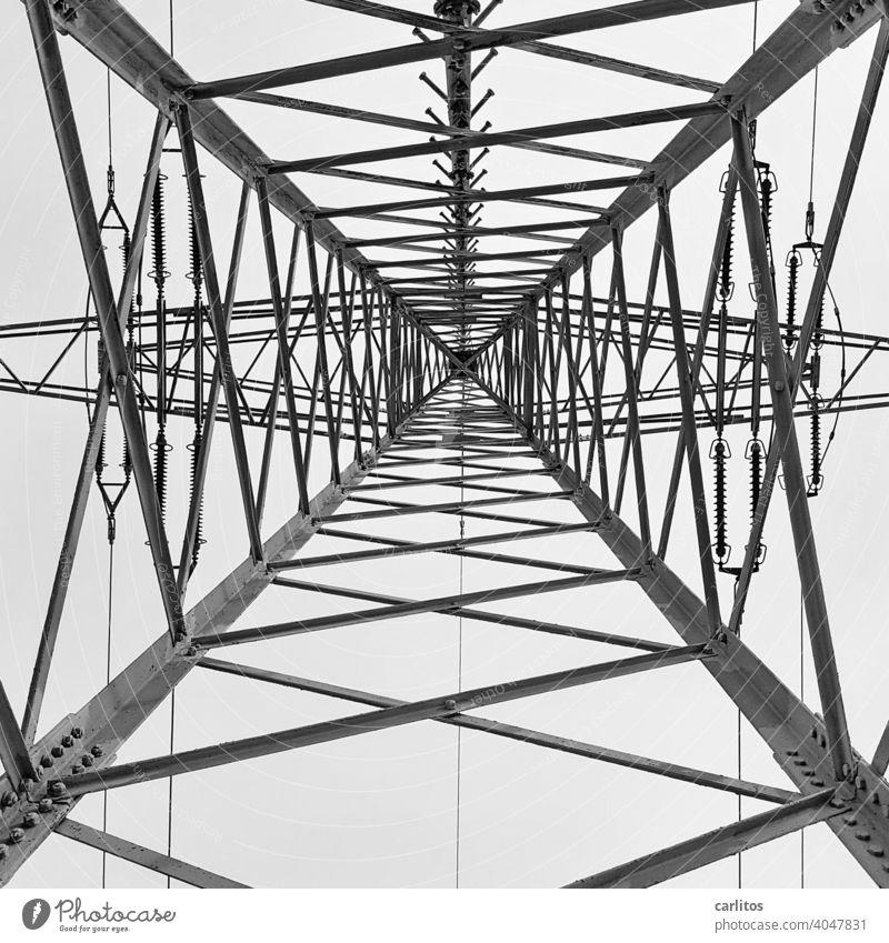 Strommast | CO2 ... ich bin so frei Kohlendioxid Energie Energiewende Alternative Energie Energiewirtschaft Elektrizität Technik & Technologie Himmel