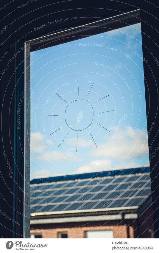 Solarenergie / Sonnenenergie - Sonne / Symbol und Zeichen Erneuerbare Energie Photovoltaik Klima wärmequelle enegiesparen umweltbewusst fotovoltaikanlage