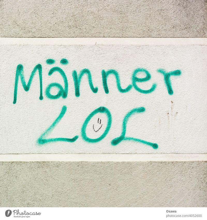 Männer LOL :) Farbfoto Schrift Wandmalereien Buchstaben Kreativität Kunst Kultur Jugendkultur Straßenkunst Typographie Putz Schmiererei Schriftzeichen Zeichen