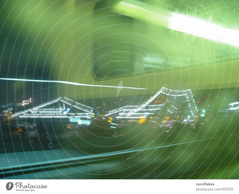 U3 Fenster Verkehr Hafen U-Bahn Neonlicht