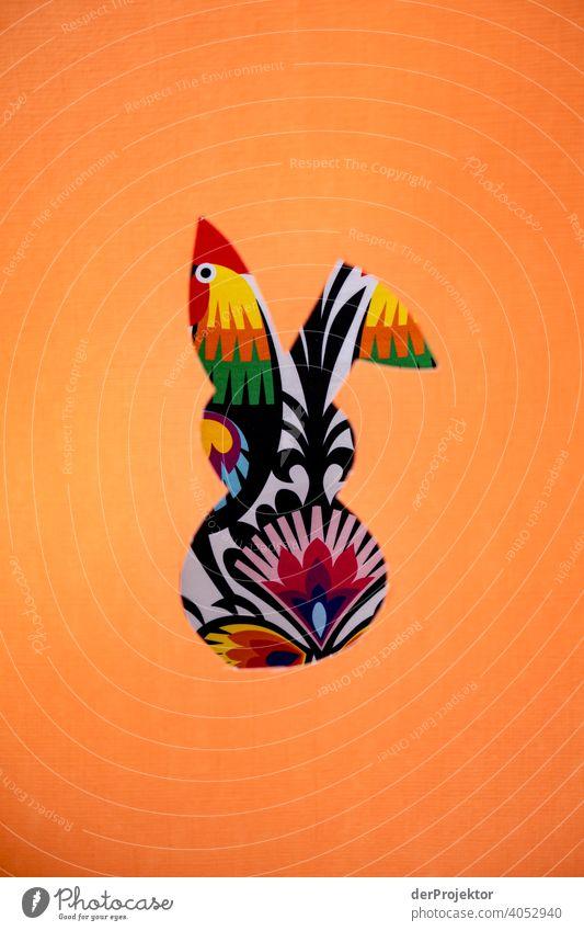 Gerahmter Osterhase mit Muster im Hintergrund Ostern ostereier Ostermontag Ostergeschenk Osterwunsch osterwetter Osterei Ei Dekoration & Verzierung