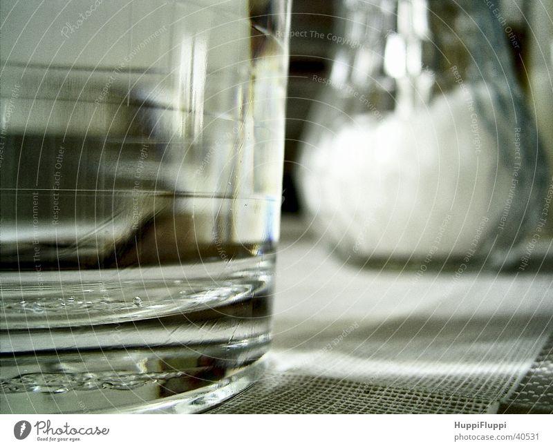Wasser und Zucker Glas Tisch Küche Spender