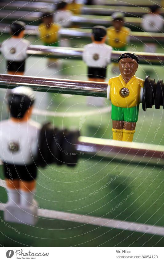 Brasilien - Deutschland Sport Freizeit & Hobby Tischfußball kicker Fußball Fußballplatz Ballsport Fußballer Kickermännchen Spielfiguren Spielfeld Spielzeug
