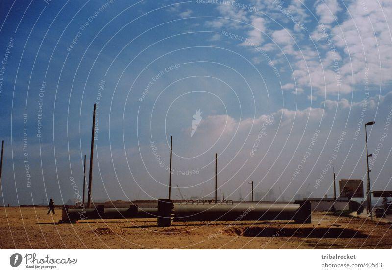 Casablanca001 Strand Blauer Himmel Moral Marokko Afrika