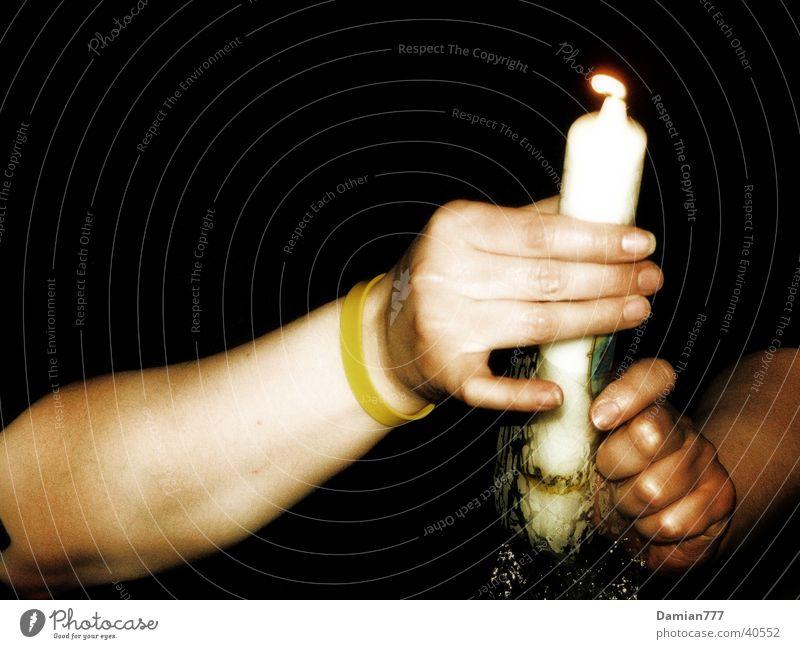 Licht-Hände Frau Mensch Hand Flamme