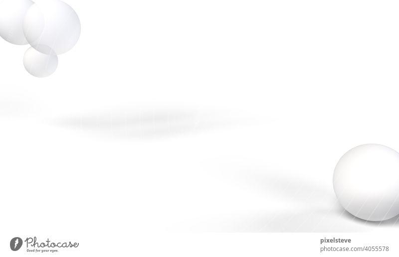 Mehrere Blasen, die in einem weißen Raum schweben. Hochauflösendes 3D-Rendering. blasen Luft Präsentation Seifenblase weißer Hintergrund Luftblase Blubbern