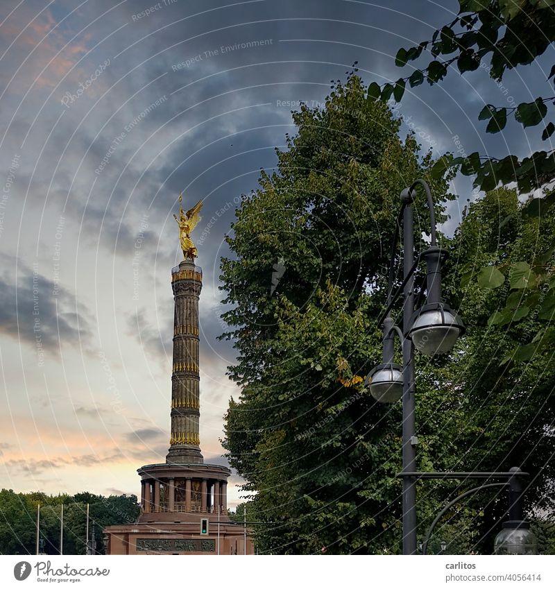 Goldelse | Berlin |Siegessäule Deutschland Viktoria Großer Stern Großer Tiergarten gold Denkmal Figur Berlin-Mitte Hauptstadt Wahrzeichen Tourismus