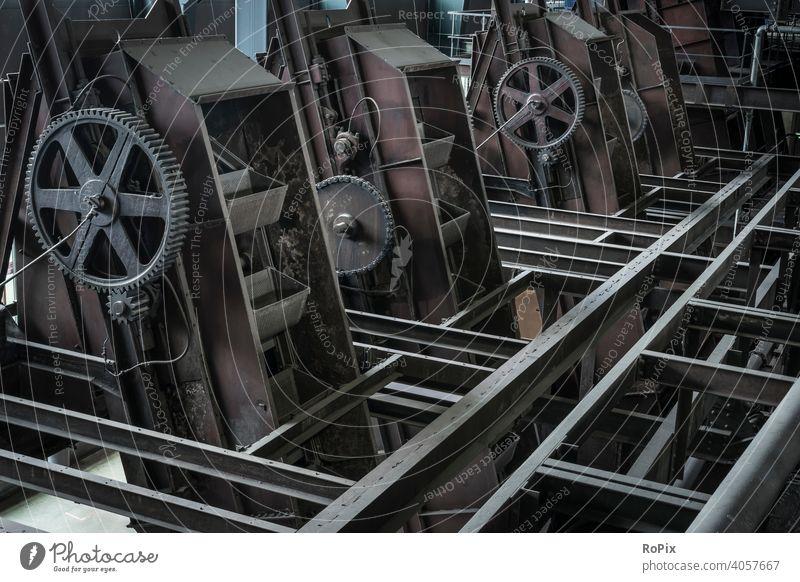 Lastenaufzüge in einem historischen Berkwerk. Industrie Zeche Kokerei Industrieanlage Architektur Bergbau Technik Infrastruktur Stadt Ofen Ruhrgebiet urban