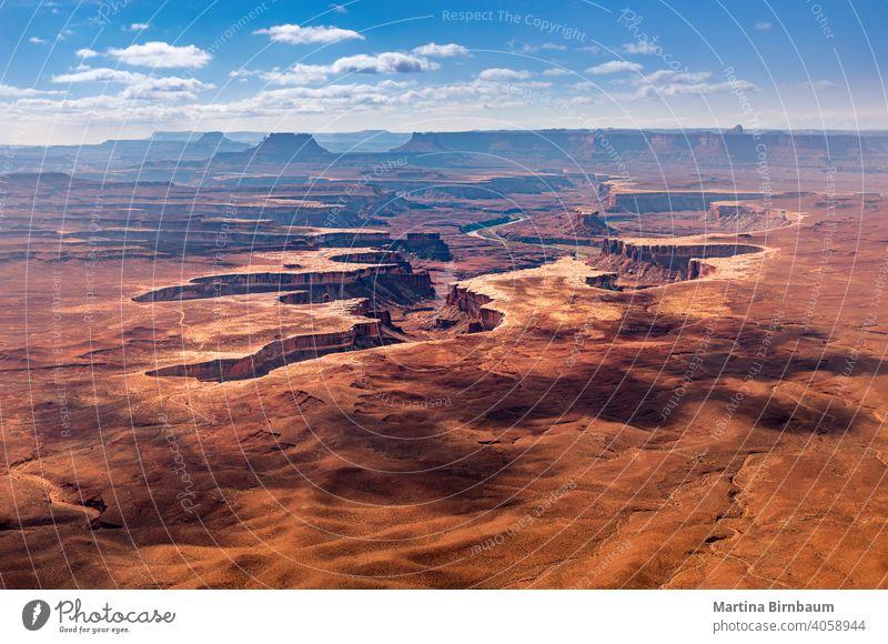 Blick auf den Canyonlands ational Park und den Green River, Utah Nationalpark Canyonlands National Park Insel USA Green river Island in the Sky Landschaft wüst