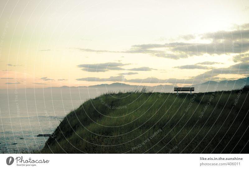 bankgeheimnis   lass die gedanken frei..... Natur Einsamkeit Landschaft Umwelt Denken genießen Bank