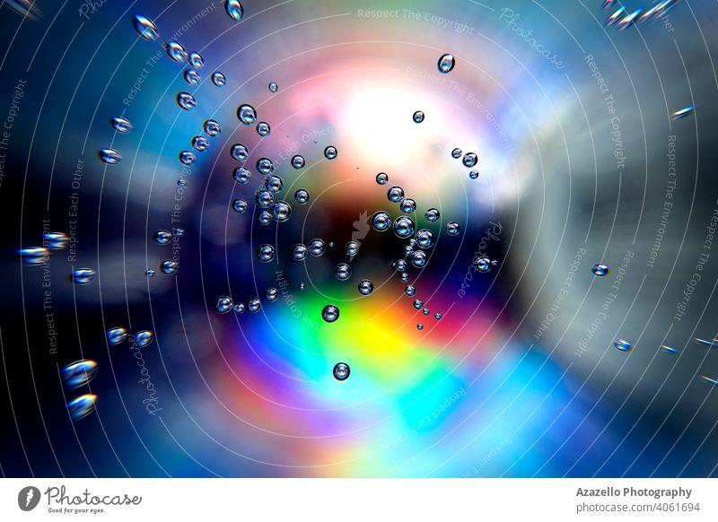Abstrakter bunter Hintergrund mit Blasen abstrakter Hintergrund abstrakter Minimalismus abstrakte Objekte Abstrakte Tapete Luftblasen Kunst Strahl blau
