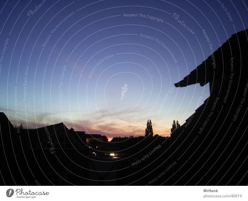 Sunset Hannover / Laatzen Sonnenuntergang Momentaufnahme Abend Abenddämmerung