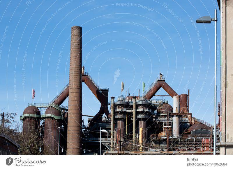 Stahlwerk, Zeche , Industriedenkmal Völklinger Hütte, Hochöfen industrieschornstein Industriekultur Stahlgewinnung Kokerei Industrieanlage Völklingen historisch