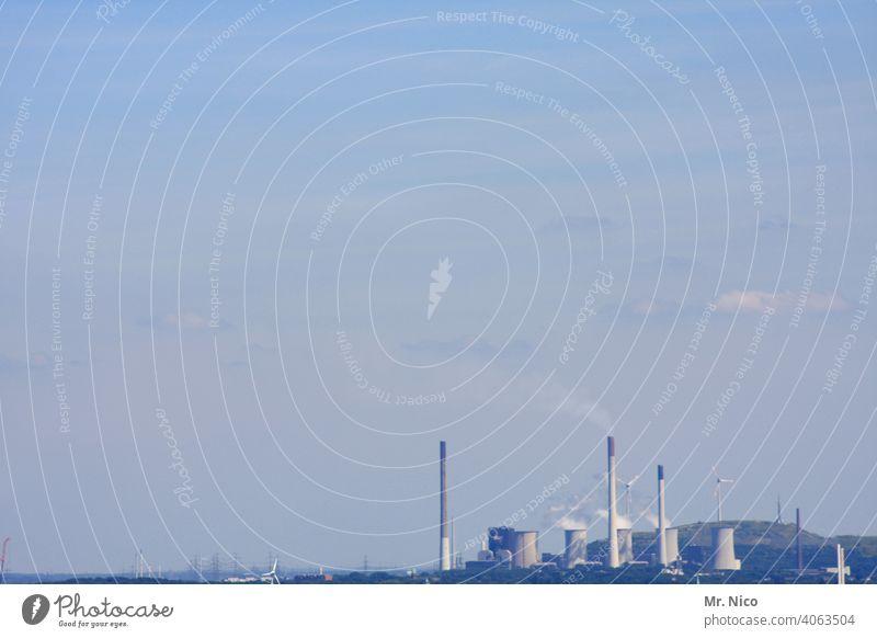 Kraftwerk Industrieanlage Emission industriell Fabrik Energiewirtschaft Stromkraftwerke Umwelt Technik & Technologie Himmel CO2-Ausstoß Umweltschutz Klimawandel