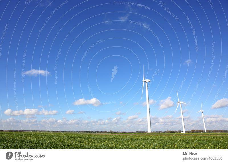 Windkraftanlage Himmel Energiewirtschaft Erneuerbare Energie Technik & Technologie ökologisch Umwelt Umweltschutz umweltfreundlich Energiekrise Sauberkeit