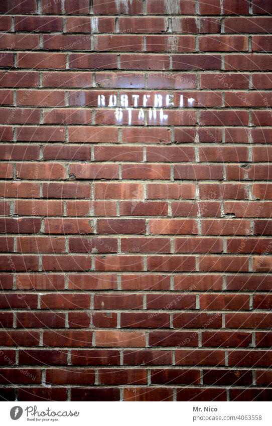 Rostfreier Stahl Mauer Industrie Strukturen & Formen Architektur Gebäude Fabrik Industrieanlage Fassade Bauwerk Wand Arbeitsplatz rostfrei Typographie