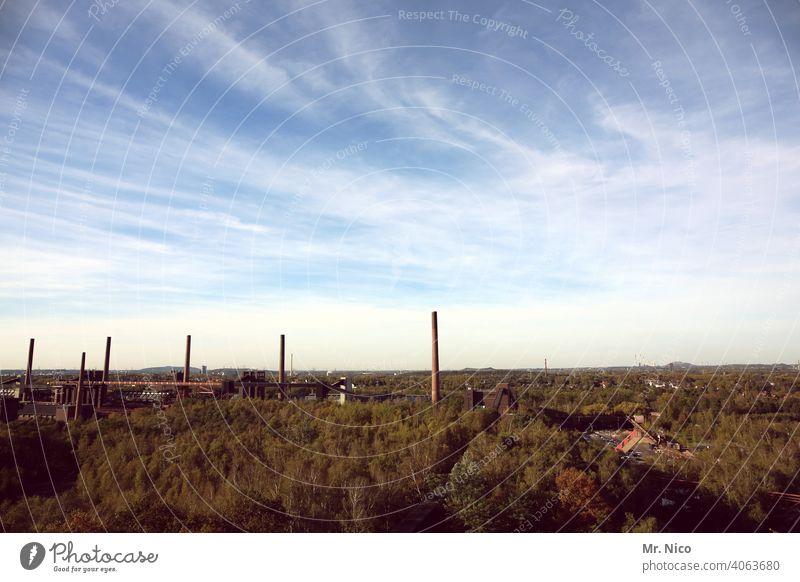 Zeche ZollvereinIndustrie Bauwerke stahlbau bergwerk Wolkenhimmel Gebäude architektur zeche bauwerk anlagen Wirtschaft Umwelt Ruhrgebiet Sehenswürdigkeit