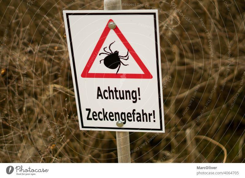 Achtung Zeckengefahr - Zeckenschild - Vorsicht Zecken zeckenwarnschild zecken schild achtung zeckengefahr vorsicht zecken zeckengefahr schild zeckenschild