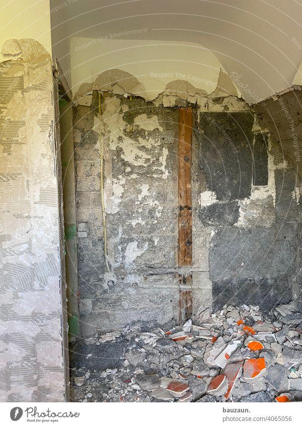 abbruch. Abbruch Wandel & Veränderung Menschenleer Baustelle Architektur Bauwerk Mauer bauen Gebäude Strukturen & Formen Sanieren Arbeit & Erwerbstätigkeit
