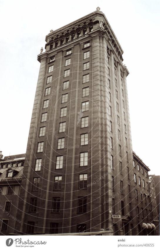 turm Haus Graffiti Architektur Turm Friseur Stockholm