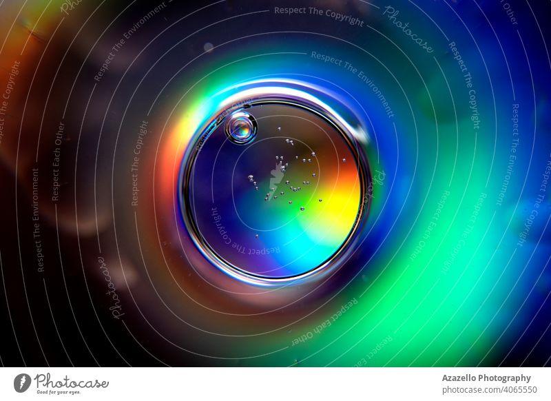 Abstrakter Ball mit Spektralfarben und Luftblasen. abstrakt abstrakter Hintergrund abstrakter Kreis Air Analyse Strahl schön Schönheit Unschärfe verschwommen