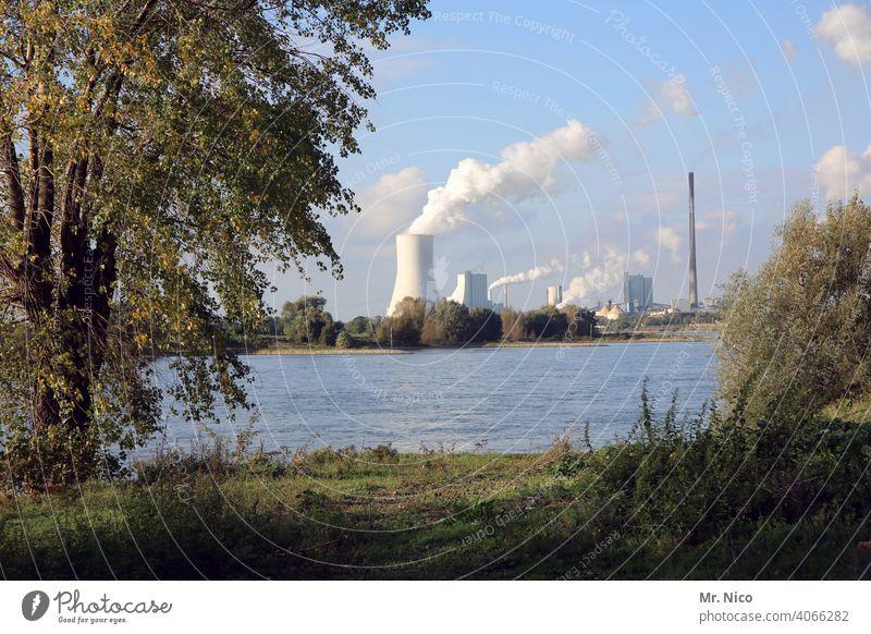 Kraftwerk Kühlturm Klimawandel Industrieanlage Schornstein Kohlekraftwerk Umweltverschmutzung Umweltschutz Erneuerbare Energie Ozon Arbeit & Erwerbstätigkeit