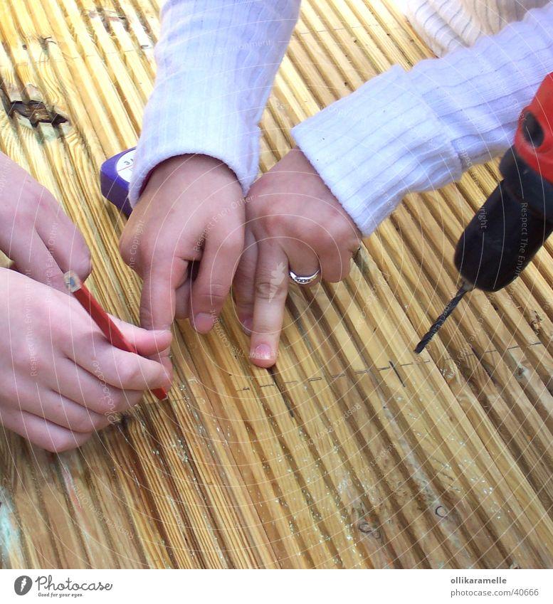 planen Holz Arbeit & Erwerbstätigkeit Basteln Elektrisches Gerät Technik & Technologie Jugendliche Baustelle